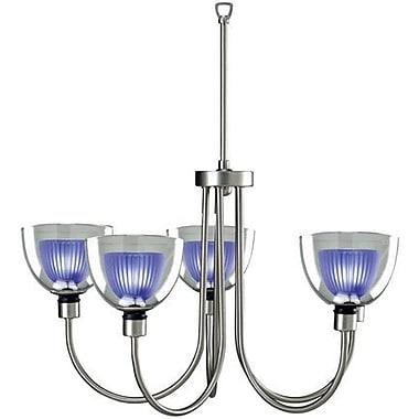 Ebern Designs Brandt 5-Light Shaded Chandelier; Blue