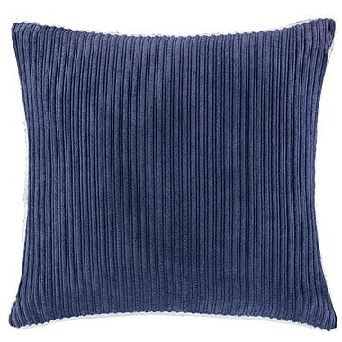 Winston Porter Carley Polyester Throw Pillow; Navy