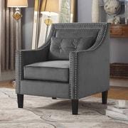Alcott Hill Jamison Armchair; Gray
