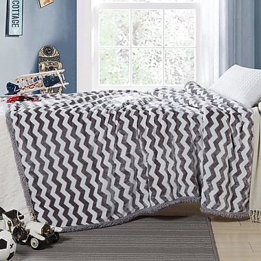 Zoomie Kids Lorene Sherpa Throw; Gray