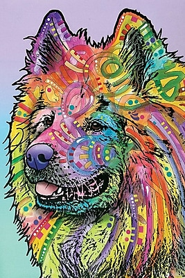 East Urban Home Samoyed Graphic Art on Wrapped Canvas; 12'' H x 8'' W x 0.75'' D