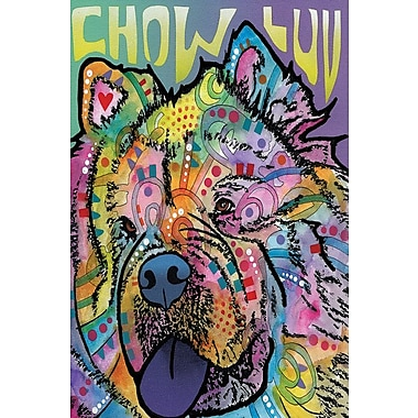 East Urban Home Chow Luv Graphic Art on Wrapped Canvas; 18'' H x 12'' W x 1.5'' D