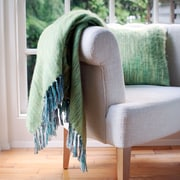 George Oliver Brett Brushed Throw; Green
