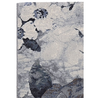 Gracie Oaks Gabriel Pewter Area Rug; Runner 2'7'' x 7'10''