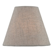 Gracie Oaks 6'' Fabric Empire Lamp Shade; Beige