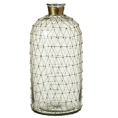 Gracie Oaks Lylia Decorative Bottle; 15.5'' H x 7.5'' W x 7.5'' D