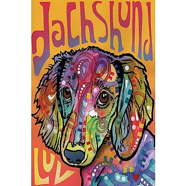 East Urban Home Dachshund Luv Graphic Art on Wrapped Canvas; 26'' H x 18'' W x 0.75'' D