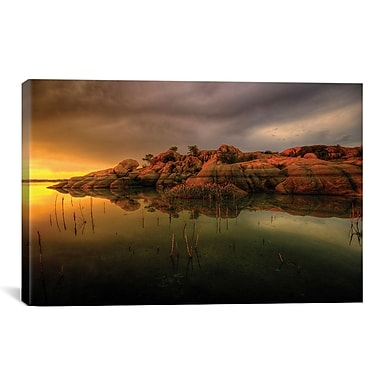 East Urban Home Willow Lake Rock Wide I by Bob Larson Photographic Print on Canvas
