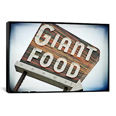 East Urban Home Vintage Giant Food Sign by Steve Snodgrass Graphic Art on Wrapped Canvas