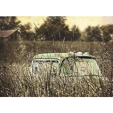 Gracie Oaks 'Old Truck in Farm Field' Photographic Print on Canvas; 20'' H x 30'' W