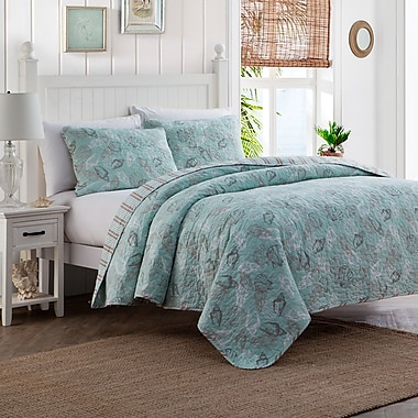Highland Dunes 3 Piece Reversible Quilt Set; Full/Queen