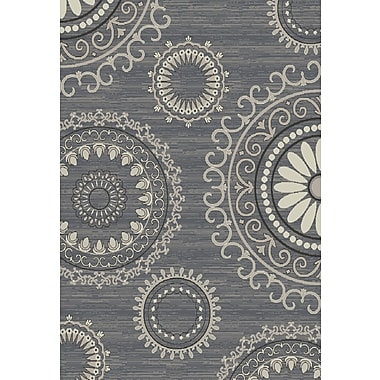 Bungalow Rose Fealty Gray Area Rug; 8' x 10'