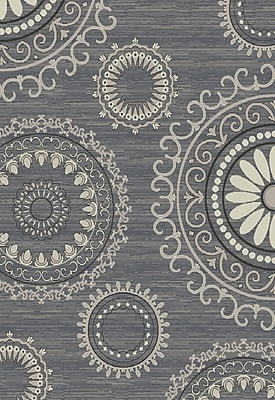Bungalow Rose Fealty Gray Area Rug; 5' x 8'