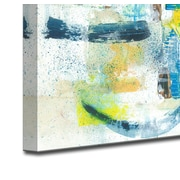 Brayden Studio 'Sun & Shade' Acrylic Painting Print on Canvas in Blue/Yellow; 20'' H x 30'' W