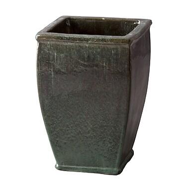Emissary Square Glazed Ceramic Pot Planter; 20'' H x 13'' W x 13'' D