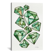 East Urban Home Emeralds Tattoos Painting Print on Wrapped Canvas; 18'' H x 12'' W x 0.75'' D