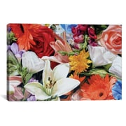 East Urban Home Max's Flowers Photographic Print on Wrapped Canvas; 26'' H x 40'' W x 1.5'' D