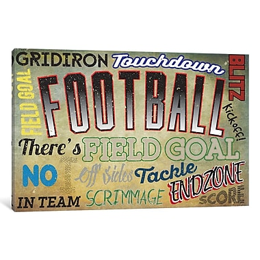East Urban Home Sportsball Textual Art on Wrapped Canvas; 40'' H x 60'' W x 1.5'' D