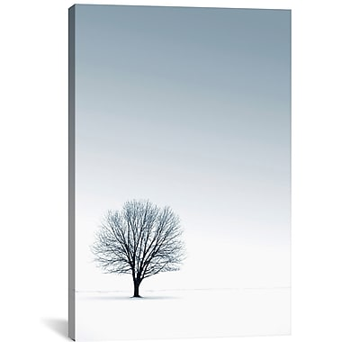 East Urban Home Tree in Winterscape Graphic Art; 18'' H x 12'' W x 0.75'' D