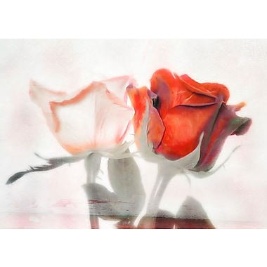 Red Barrel Studio 'Two Roses - One Soul' Graphic Art Print on Canvas; 16'' H x 24'' W