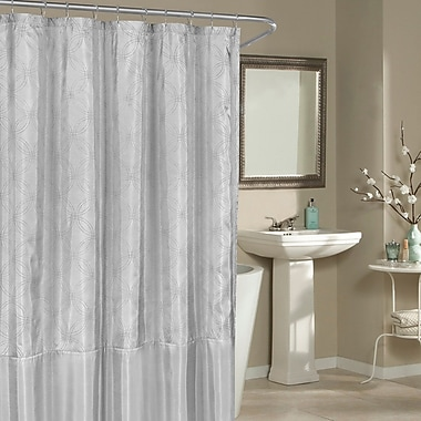 Red Barrel Studio Birch Creek Shower Curtain; Silver
