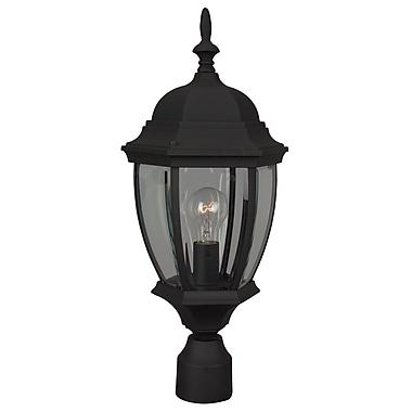 Charlton Home Oakhill 1 Light Outdoor Post Lantern; Matte Black