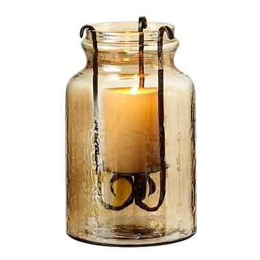 Darby Home Co Luster Jar Pillar Candle Hurricane; 10.25'' H x 6.5'' W x 6.5'' D