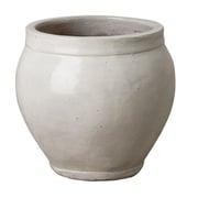 Emissary Ridge Glazed Ceramic Pot Planter; 18'' H x 16'' W x 16'' D