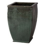 Emissary Square Glazed Ceramic Pot Planter; 27'' H x 18'' W x 18'' D