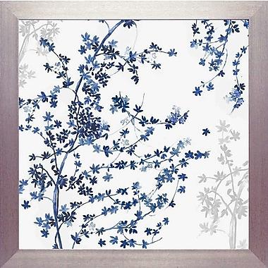 Varick Gallery 'Blue Ivy' Framed Graphic Art Print; 24'' H x 24'' W