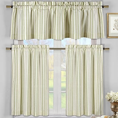 Darby Home Co Julius 3 Piece Kitchen Curtain Set; Sage