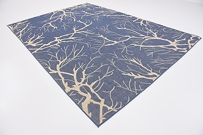 Ebern Designs Braun Blue Outdoor Area Rug; 8' x 11'4''