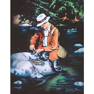 Loon Peak 'Catch of the Day' Acrylic Painting Print on Canvas; 24'' H x 16'' W