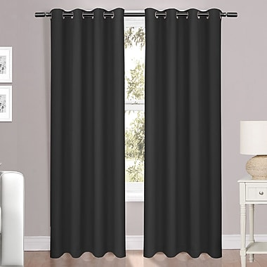 Red Barrel Studio Folcroft Luxury Light Reducing Solid Blackout Grommet Window Single Curtain Panel