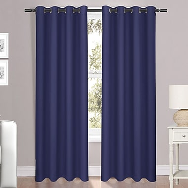 Red Barrel Studio Folcroft Luxury Light Reducing Solid Blackout Grommet Window Single Curtain Panel
