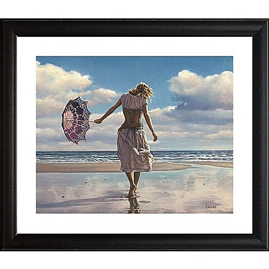 Red Barrel Studio 'Walking on Broken Clouds' Framed Graphic Art Print; 22'' H x 26'' W