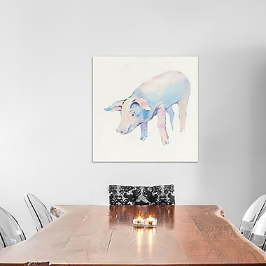 East Urban Home 'Horatio' Painting Print on Wrapped Canvas; 18'' H x 18'' W x 0.75'' D