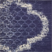 Varick Gallery Steinbeck Navy Blue Area Rug; Square 8'