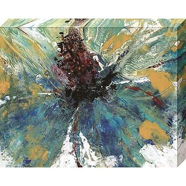 Varick Gallery 'Blue Splash I' Gallery Print on Wrapped Canvas; 16'' H x 20'' W