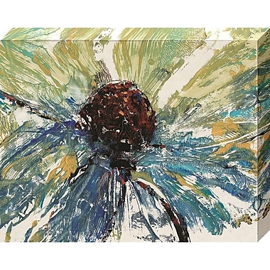 Varick Gallery 'Blue Splash II' Gallery Print on Wrapped Canvas; 20'' H x 25'' W