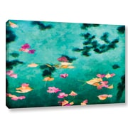 World Menagerie 'Swirling Leaves and Petals 6' Painting Print on Wrapped Canvas