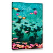 World Menagerie 'Swirling Leaves and Petals 4' Painting Print on Wrapped Canvas