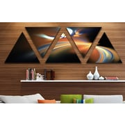 'Brown Floating Fractal Designs' Graphic Art Print Multi-Piece Image on Wrapped Canvas