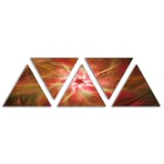 'Rotating Brown Bright Fireworks' Graphic Art Print Multi-Piece Image on Wrapped Canvas