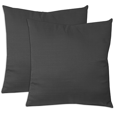 Red Barrel Studio Forestburgh Solid Throw Pillow (Set of 2); Black
