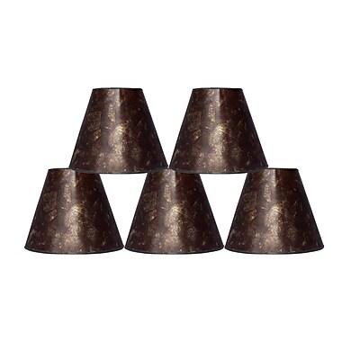 Fleur De Lis Living 6'' Mica Bell Lamp Shade Set of 5 (Set of 5); Amber
