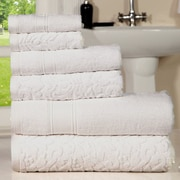 Darby Home Co Augustine Cotton 6 Piece Towel Set; White