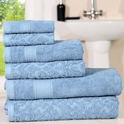 Darby Home Co Augustine Cotton 6 Piece Towel Set; Forever Blue