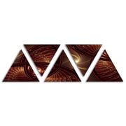 'Brown Symmetrical Fractal Pattern' Graphic Art Print Multi-Piece Image on Wrapped Canvas