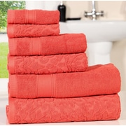 Darby Home Co Augustine Cotton 6 Piece Towel Set; Mid Red